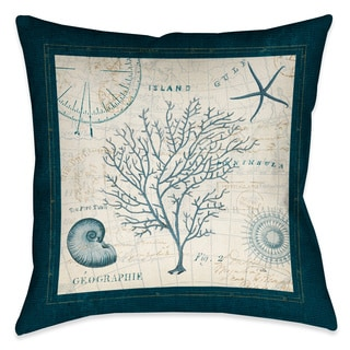 Laural Home Ocean Life Coral Decorative 18-inch Throw Pillow