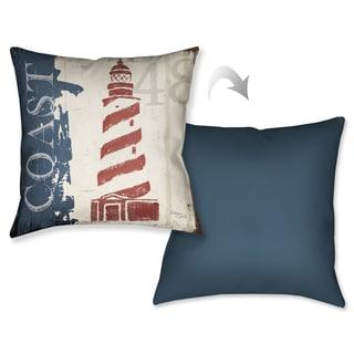 Laural Home Nautical Lighhouse Decorative 18-inch Throw Pillow