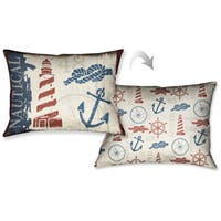 Laural Home Nautical Life Decorative 18-inch Throw Pillow