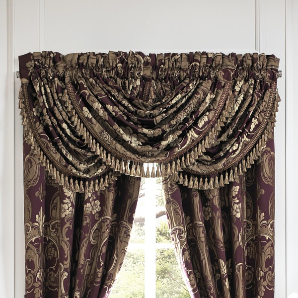 Croscill Everly Plum and Gold Window Valance - Free Shipping Today ...