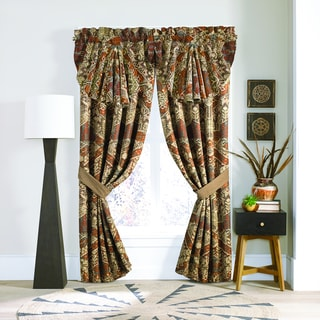 Croscill Salida Red and Green Pole Top Window Drapery