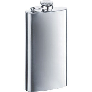 Visol Trim Mirrored Finish Stainless Steel Liquor Flask - 5 ounces