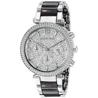 Michael Kors Women's MK6284 'Parker' Chronograph Crystal Two-Tone Stainless Steel Watch