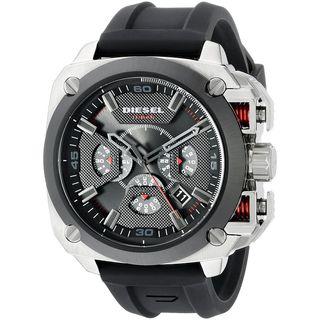 Diesel Men's DZ7356 'BAMF' Chronograph Black Silicone Watch