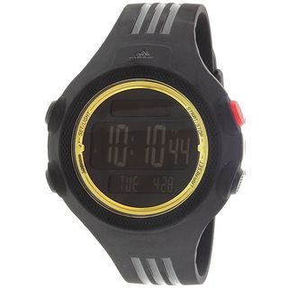 Adidas Men's ADP6137 'Questra' Digital Black Polyurethane Watch