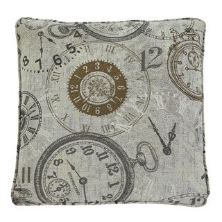 Signature Design by Ashley Vintage Watch Patterned Natural Throw Pillow