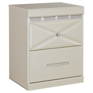 Signature Design by Ashley Dreamur Champagne Two Drawer Night Stand