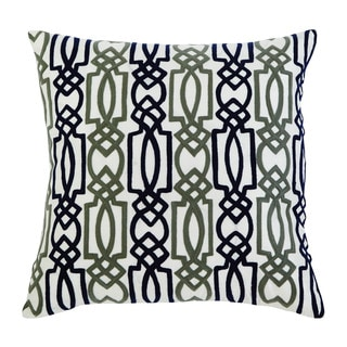 Signature Design by Ashley Embroidered Navy Throw Pillow