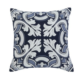 Signature Design by Ashley Medallion Navy Throw Pillow