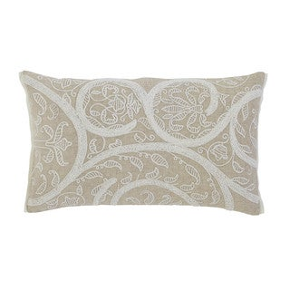 Signature Design by Ashley Embroidered Natural Throw Pillow