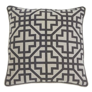 Signature Design by Ashley Geometric Linen Charcoal 22-inch Pillow Cover