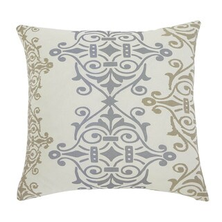 SB Signature Design by Ashley Scroll Gray/Brown 22-inch Pillow Cover