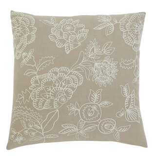 Signature Design by Ashley Embroidered Natural 18-inch Pillow Cover