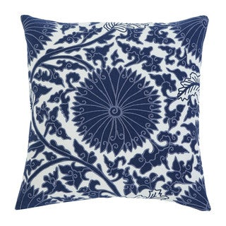 Signature Design by Ashley Medallion Navy 18-inch Pillow Cover