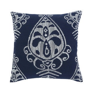 Signature Design by Ashley Embroidered Navy 18-inch Pillow Cover