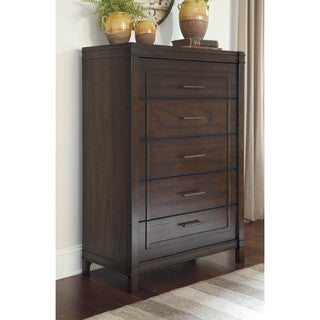 Signature Design by Ashley Timbol Warm Brown Five Drawer Chest