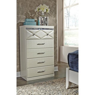 Signature Design by Ashley Dreamur Champagne Five Drawer Chest