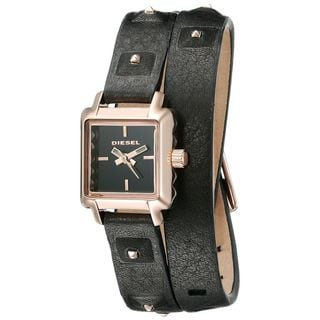 Diesel Women's DZ5480 'Ursula' Black Leather Watch