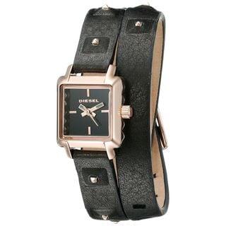 Diesel Women's DZ5480 'Ursula' Black Leather Watch