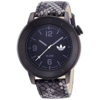 Adidas Men's ADH3044 'Manchester' Black Leather Watch