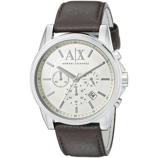 Armani Exchange Men's AX2506 'Outer Banks' Chronograph Brown Leather Watch