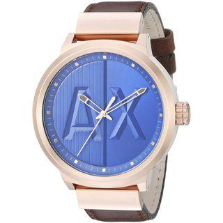 Armani Exchange Men's AX1367 'ATLC' Brown Leather Watch
