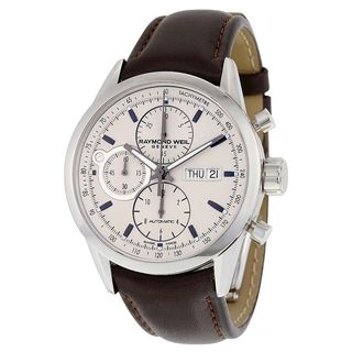 Raymond Weil Men's 7730-STC-65112 'Freelancer' Chronograph Automatic Brown Leather Watch