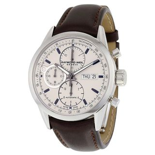 Link to Raymond Weil Men's 7730-STC-65112 'Freelancer' Chronograph Automatic Brown Leather Watch Similar Items in Men's Watches