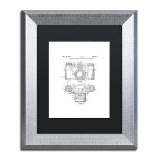 Claire Doherty 'Photographic Camera Patent 1962 White' Black Matte, Silver Framed Wall Art