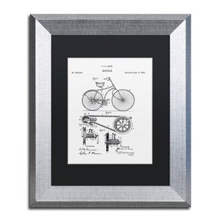 Claire Doherty 'Bicycle Patent 1890 White' Black Matte, Silver Framed Wall Art