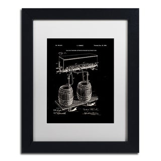 Claire Doherty 'Art Of Brewing Beer Patent Black' White Matte, Black Framed Wall Art