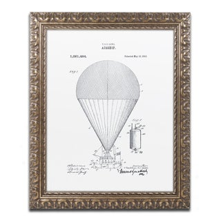 Claire Doherty 'Airship Patent 1913 White' Gold Ornate Framed Wall Art