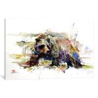 iCanvas Multi-Colored Bear by Dean Crouser Canvas Print