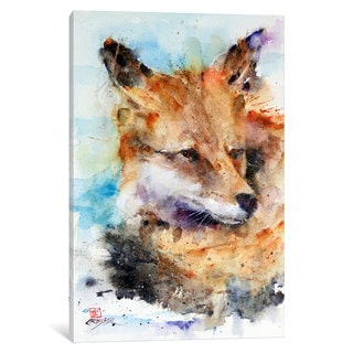 iCanvas Fox by Dean Crouser Canvas Print
