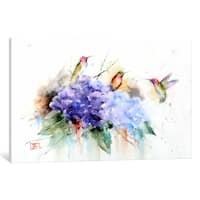 iCanvas Three Hummingbirds by Dean Crouser Canvas Print