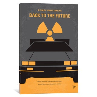 iCanvas Back To The Future Minimal Movie Poster-part I by Chungkong Canvas Print