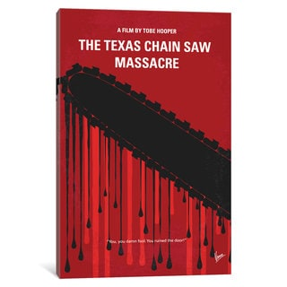 iCanvas The Texas Chain Saw Massacre Minimal Movie Poster by Chungkong Canvas Print