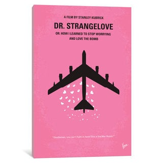 iCanvas Dr Strangelove Minimal Movie Poster by Chungkong Canvas Print