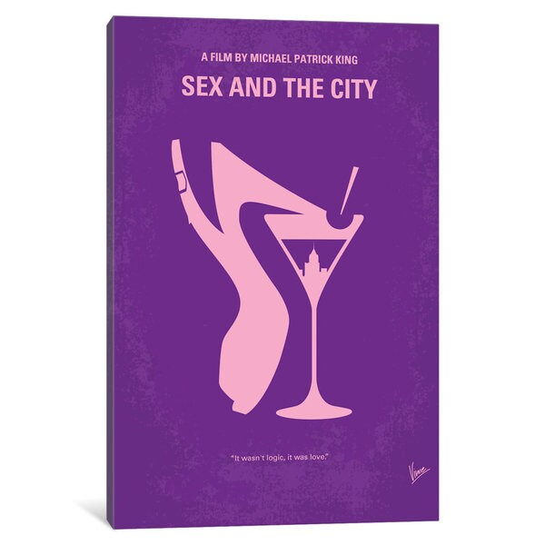 iCanvas Sex And The City Minimal Movie Poster by Chungkong Canvas Print