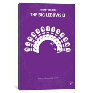 iCanvas Big Lebowski Minimal Movie Poster by Chungkong Canvas Print
