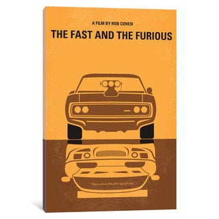 iCanvas The Fast And The Furious Minimal Movie Poster by Chungkong Canvas Print