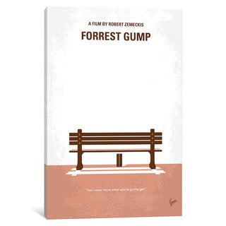 iCanvas Forrest Gump Minimal Movie Poster by Chungkong Canvas Print