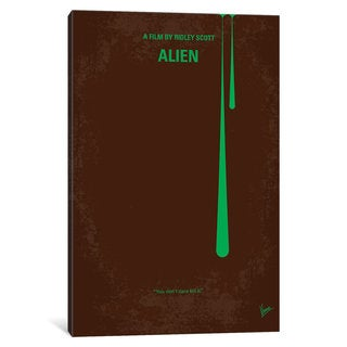 iCanvas Alien Minimal Movie Poster by Chungkong Canvas Print