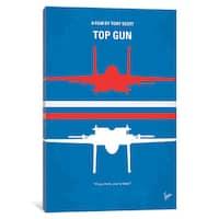 iCanvas Top Gun Minimal Movie Poster by Chungkong Canvas Print
