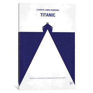 iCanvas Titanic Minimal Movie Poster by Chungkong Canvas Print