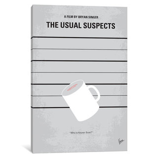 iCanvas The Usual Suspects Minimal Movie Poster by Chungkong Canvas Print