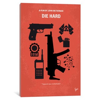 iCanvas Die Hard Minimal Movie Poster by Chungkong Canvas Print