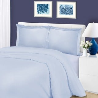 Superior 1200 Thread Count Cotton Blend Solid Duvet Cover Set
