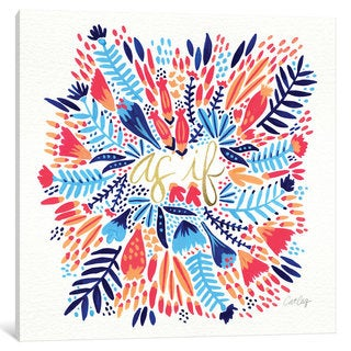 iCanvas As If Multi White Artprint - Right by Cat Coquillette Canvas Print