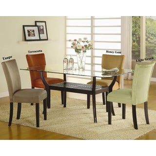 Mirage Microfiber Parson Dining Chairs (Set of 2)